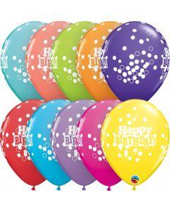 Baloane latex Happy Birthday 28 cm 6 buc, cod 52975