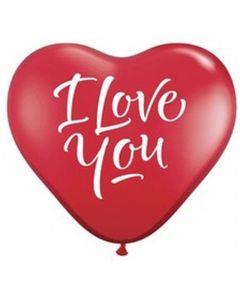 "Balon latex Inima ""I love you"" 25 cm, cod 1BAL.ACRI.LOV"