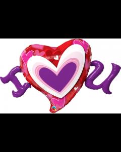 "Balon folie Inima ""I love you"", cod 54894"
