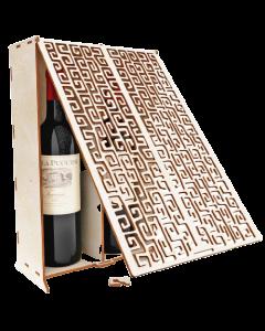 Suport 2 sticle vin cu capac, cod LTAV05