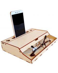 Suport telefon cu spatiu de depozitare, cod LTEST03