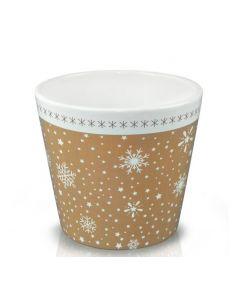 Vas ceramic 14*12 cm, cod 39.062.14 Retro Cream