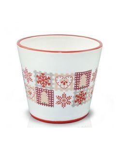 Vas ceramic 14*12 cm, cod 39.062.14 Retro Design