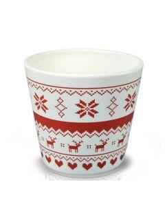 Vas ceramic 14*12 cm, cod 39.062.14 Retro Red